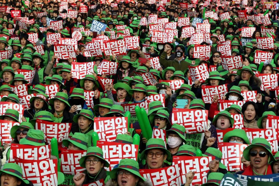 manifestación coreana