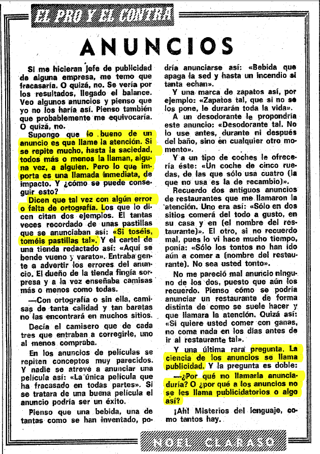 La Vanguardia, 22 de julio de 1975